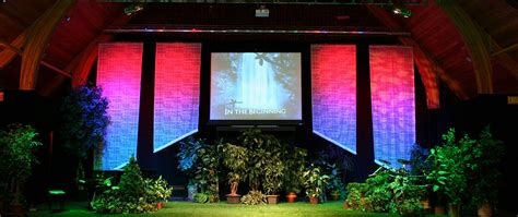 creation banners church stage design ideas