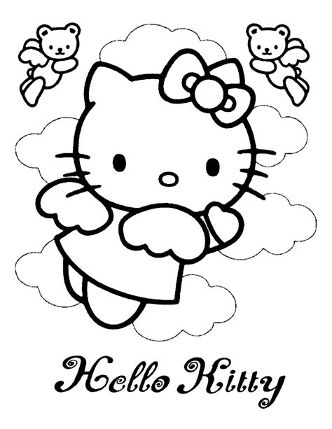 Hello Kitty Coloring Page 07 Coloring Page Central