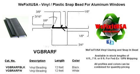 glazing bead  aluminum vinyl wood windows doors
