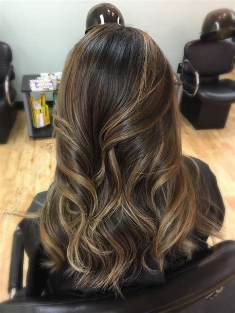 highlights  black hair ideas  pinterest