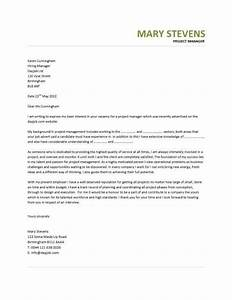 project manager cover letter example example of cover With cover letter for project assistant position