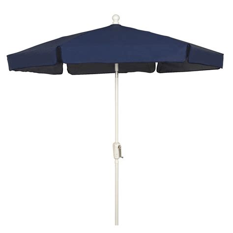 navy blue hexagon garden umbrella white finish
