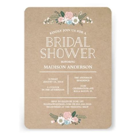 sweet floral bridal shower invitation zazzle com