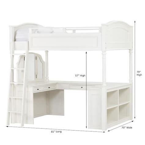chelsea vanity loft bed chelsea vanity loft bed pbteen