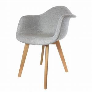 Chaise Fauteuil Avec Accoudoir : home deco art lot de 2 fauteuils scandinaves gris brandalley ~ Melissatoandfro.com Idées de Décoration