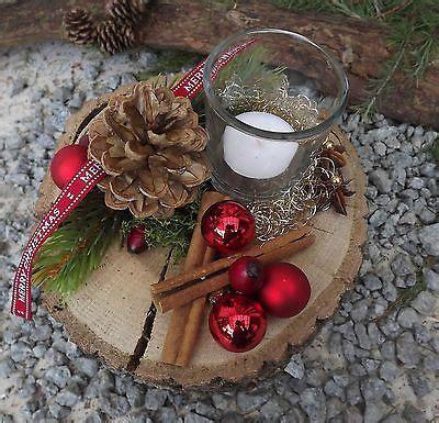 bild  von  adventsdeko baumscheiben deko weihnachten tischdeko weihnachten und deko baum