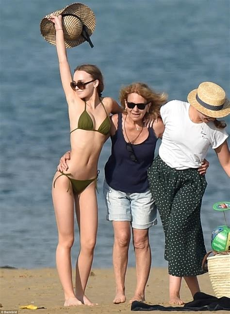 lily rose depp bikini lily rose depp and mom vanessa visit a french island