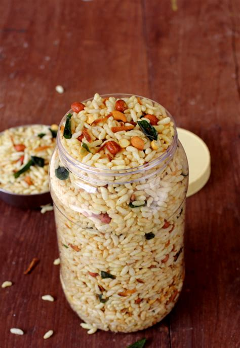 healthy office snacks india murmura chivda spiced puffed rice mixture healthy