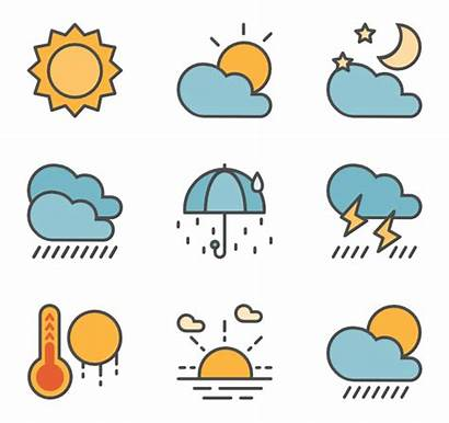 Weather Forecast Icons Icon Clipart Vector Clipground