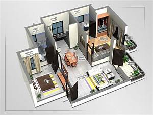 Sweet Home 3d En Ligne : 3d floor plan 2bhk slab home design joy studio design ~ Premium-room.com Idées de Décoration
