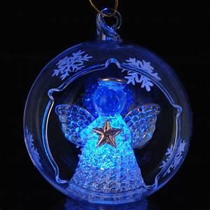 Boule De Noel Bleu : boule de no l led d80 mm ange maria bleu boule de no l eminza ~ Teatrodelosmanantiales.com Idées de Décoration