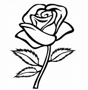 Flower black and white rose flowers clipart black and ...