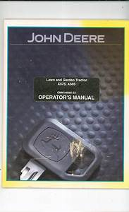 John Deere X575  U0026 X585 Garden Tractor Operators Manual Not Pdf