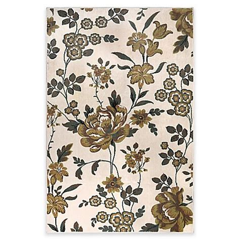 westwood accent rug buy westwood floral 2 foot 1 inch x 5 foot runner in ivory