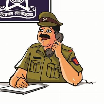 Police Indian Clipart Officer India Madras Station