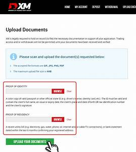 how to submit account identification documents at xm With documents upload for driving licence