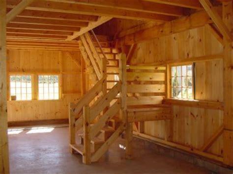interior     story post  beam country barn