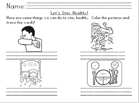 solutions  germs  kids worksheets  template