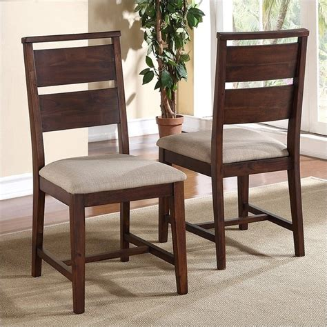 modus furniture portland dining chair in walnut set of 2