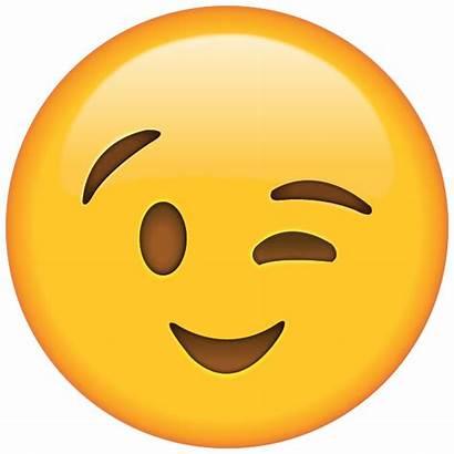 Emoji Winking Clipart Wink Transparent Pencil Emojis