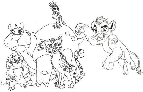 lion guard coloring pages  kion bunga fuli ono