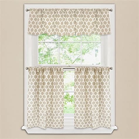 morocco window curtain tier pair and valance bed bath