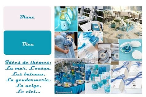 deco mariage bleu et blanc organiser un mariage