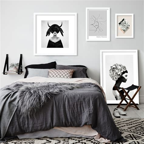 poster chambre m53 black white portrait ins painting poster modern