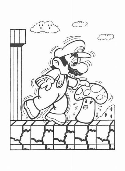 Mario Coloring Pages Super Bowser Retro Bros