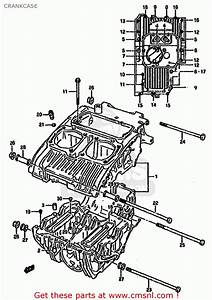 Suzuki Gs500e 1992  N   E01 E02 E04 E16 E17 E18 E21 E22 E24 E25 E53  Crankcase