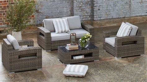 Hampton 4 Piece Outdoor Lounge Setting  Outdoor Lounges