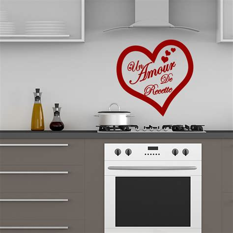sticker citation cuisine un amour de recette stickers