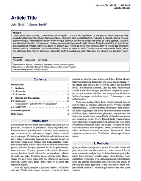 Latex Templates » Articles