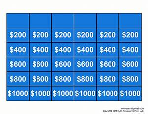Free jeopardy template make your own jeopardy game for Jeopardy online game template