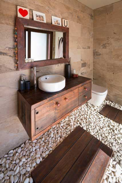 ways  boost  refresh  bathroom  adding wood