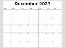 August 2027 Printable Calendar