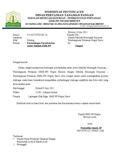 surat izin pertandingan persahabatan