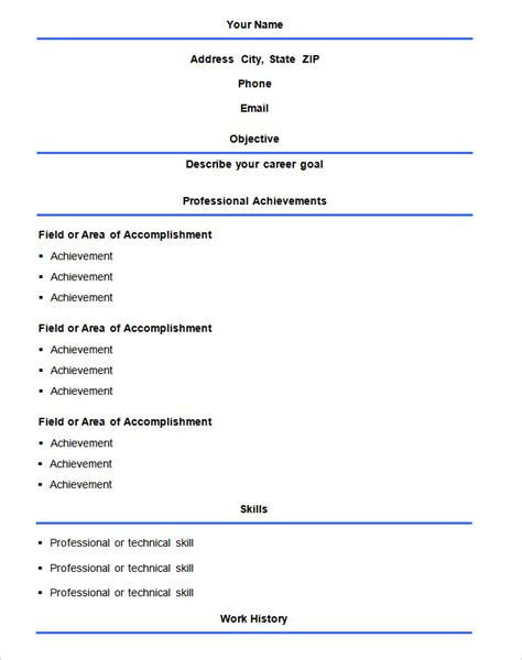 What Is The Standard Format For A Resume by Basic Resume Template 51 Free Sles Exles Format
