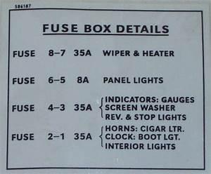 Lmg6041 Label-fuse Box Details Rover P5  P6  P6