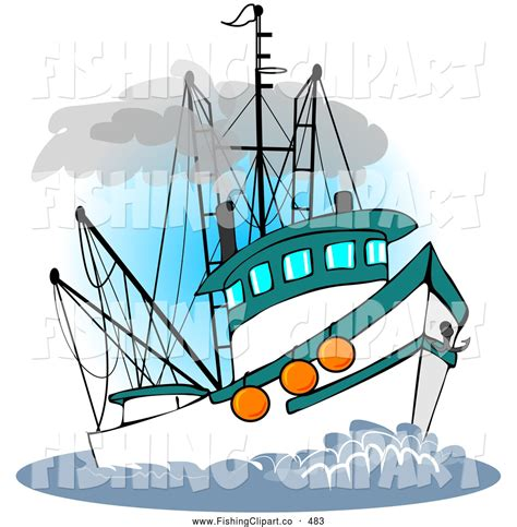 Clipart Of Fishing Boat by Commercial Fishing Boat Drawing Clipart Panda Free