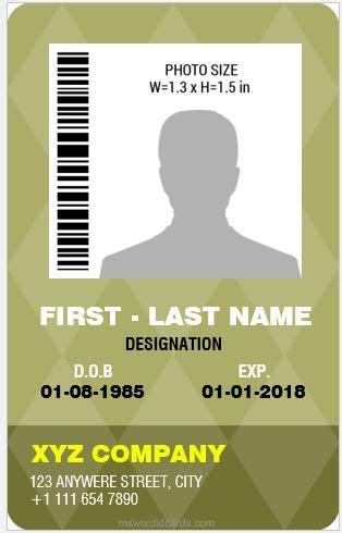 professional design vertical id card templates
