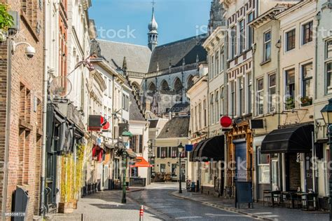 Commercial Street In The Center Of The City Of Breda ...
