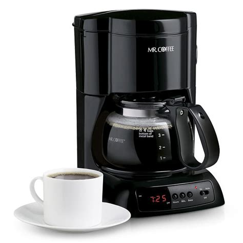 Small footprint takes up less counter space. Mr. Coffee 4-Cup Programmable Coffeemaker - Walmart.com - Walmart.com