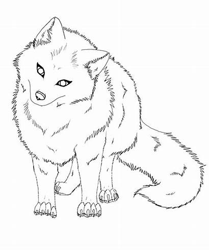 Fox Coloring Pages Printable Lineart Arctic Artic