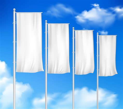 White Blank 4 Outdoor Pole Flags 483085 Vector Art at Vecteezy