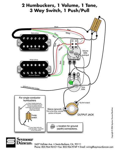 Gibson Humbucker 1 Tone Wiring Diagram Vol by H H 1vol 1ton 3pos Push Pull Pastrana Guitars