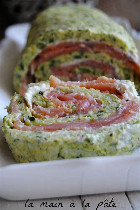 recette avec du boursin cuisine roulé à la courgette et au saumon