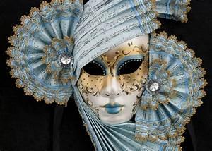Masque De Venise Volto Bleu Et Dor U00e9