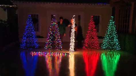 make tree of lights pre lit 6 fold flat outdoor tree by lori greiner with boesing