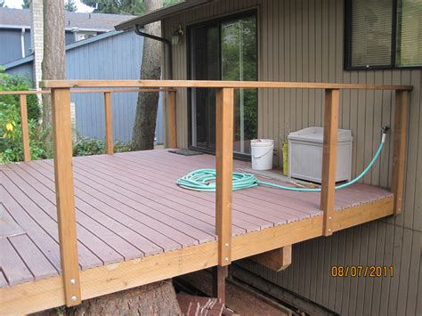 how to build a porch railing the deck railings are up hamster dreams